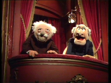 the muppet show grumpy balcony men