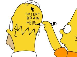 homers brain bart simpson